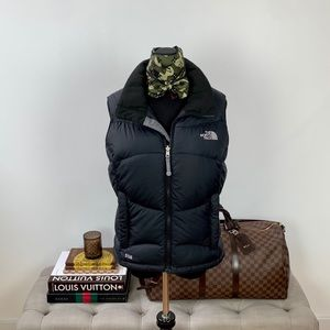 The North Face Black Zip Up Vest 550